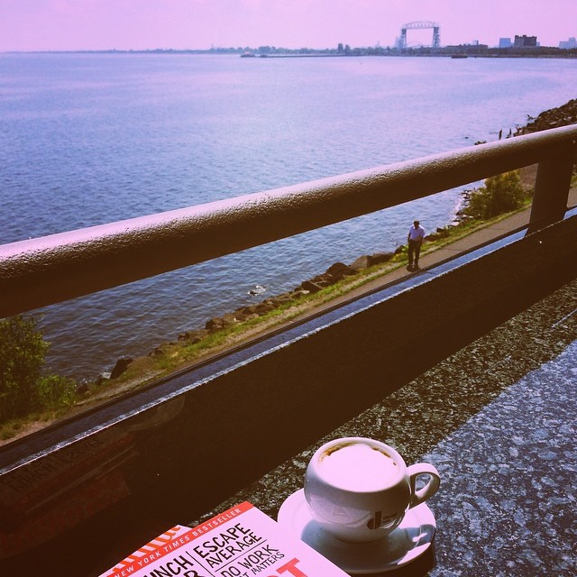 Va Bene Instagram Photo: @duluthloveslocal Afternoon cappuccino break from our meetings! #vabeneduluth @vabenecaffe #lakesuperior #thegrotto #drinklocal #coffee #lakewalk