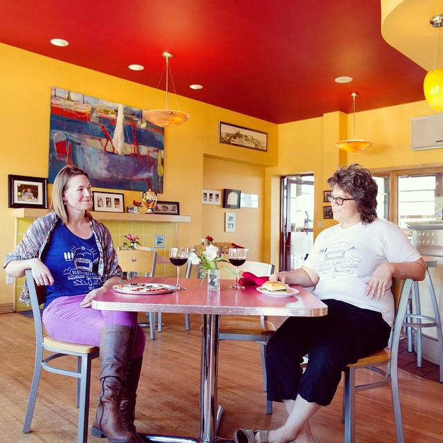 Va Bene Instagram Photo: @duluthloveslocal @madchickenstudio took this great picture of the lovely ladies that own @yarnharborduluth and @threeirishgirlsyarn! Head over to our blog to find out more about the local businesses and the owners that make Duluth so unique! Duluthloveslocal.com #shoplocal #smallbizsat #duluth #duluthloveslocal #vabenecaffe #yarn #handmade #blog #interview #photography