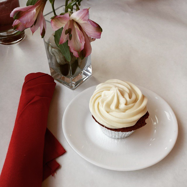 Va Bene Instagram Photo: Early Valentine's treat...red velvet cupcakes with Jack Daniels buttercream. #vabeneduluth
