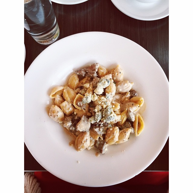 Va Bene Instagram Photo: @duluthloveslocal Today we had a great pasta dish from @vabenecaffe --the Bistecca (steak with their homemade gorgonzola cheese sauce)! #eatlocal #duluth #duluthloveslocal #pasta #vabeneduluth