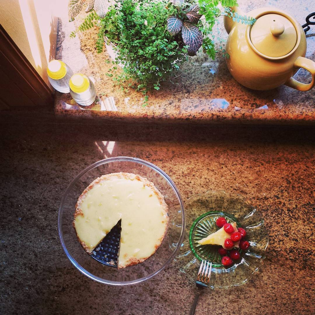 Va Bene Instagram Photo: Little slice of lemon curd tart with fresh raspberries to start the day. #lemontart #lemoncurdtart #vabeneduluth
