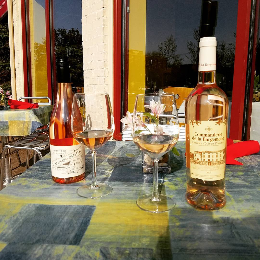 Va Bene Instagram Photo: Sampling our new Rose' . Tastes like summer.