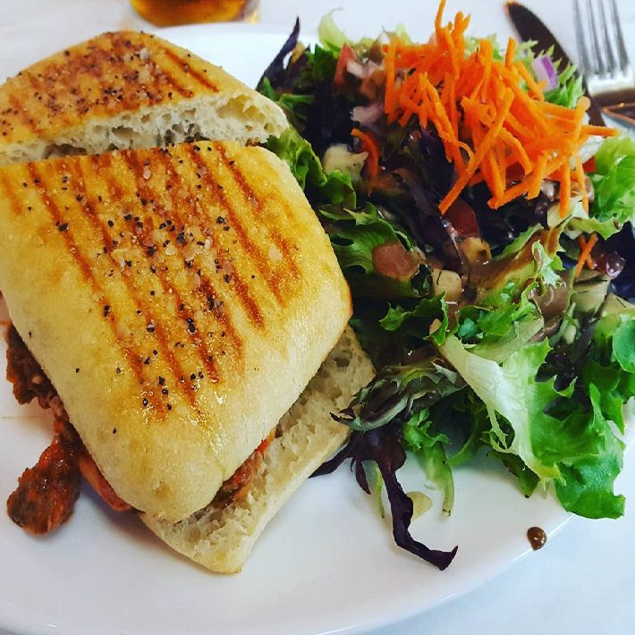 Va Bene Instagram Photo: @manlymankitchen #meatballpanini! You're very filling!