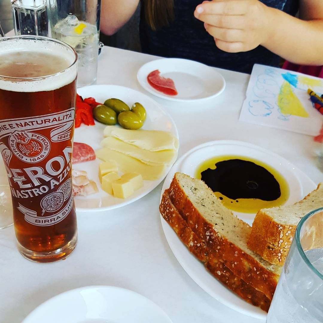 Va Bene Instagram Photo: @manlymankitchen Antipasto at #VaBeneCaffe and a #schellsbrewery #firebrick