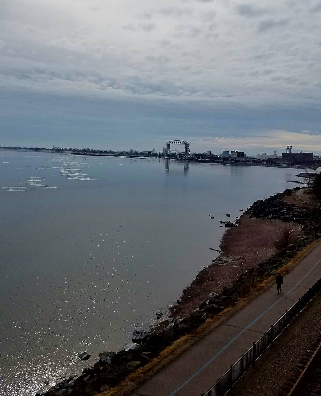 Va Bene Instagram Photo: @vabenecaffe Also, love days where it's so calm the lift bridge reflects perfectly in the water. #lakesuperior #lakewalk #duluth #duluthloveslocal #liftbridge