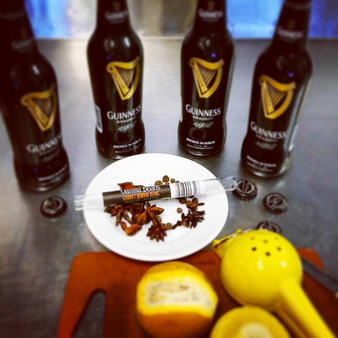 Va Bene Instagram Photo: @vabenecaffe Making the secret ingredient for a new cocktail to hit the menu soon. I first had this at the cabin up north. My cousins made it. It is so good #guiness #staranise #vanillabean