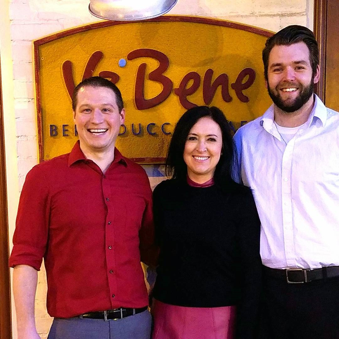 Va Bene Instagram Photo: @vabenecaffe Our annual Valentine's day picture. These two guys Luke and Ross are the best! Busy week and still smiling <3 #sweethearts #happyvalentinesday #loveourstaff
