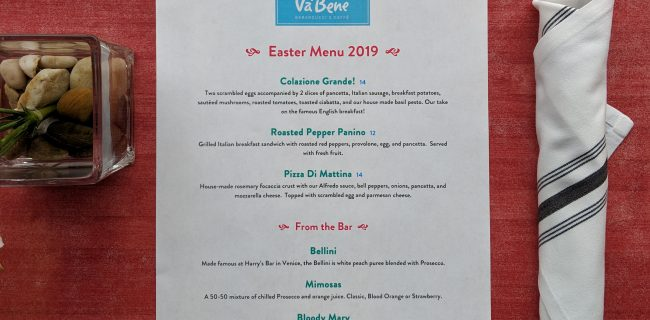 Easter 2019 Hours & Menu Announced